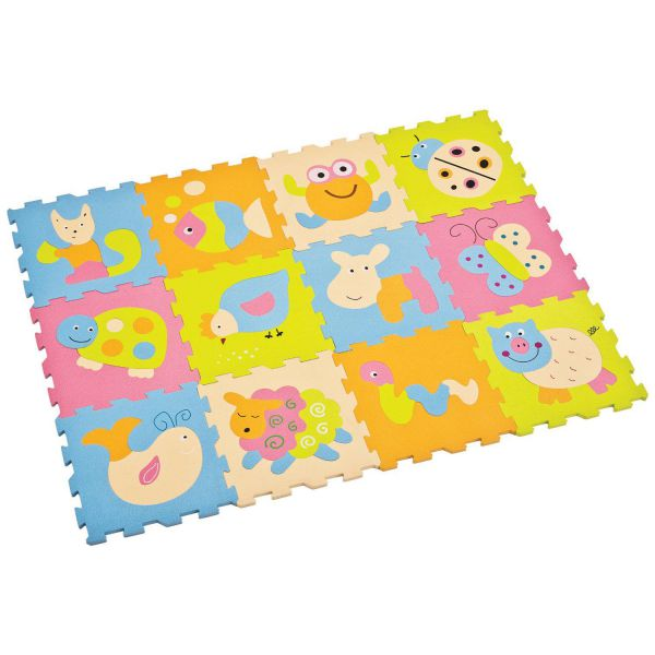 Tappeto puzzle animali 12 pezzi ludi toys 4 you - Tappeto puzzle bimbi ikea ...